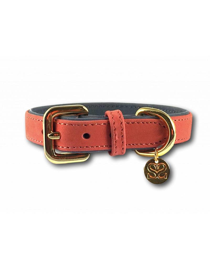 SIMPLY SMALL Leather dog collar - salmon pink - SIMPLY SMALL