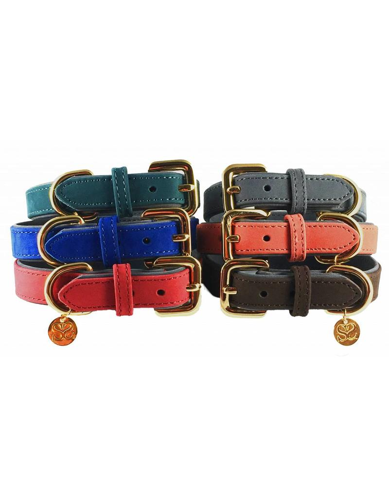 SIMPLY SMALL Leather dog collar - carmine red - SIMPLY SMALL