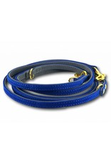 SIMPLY SMALL Leather dog leash - royal blue - SIMPLY SMALL