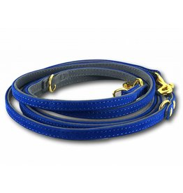 SIMPLY SMALL Leather leash - royal blue - SIMPLY SMALL
