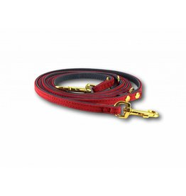 SIMPLY SMALL Leather leash - carmine red - SIMPLY SMALL