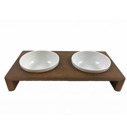 SIMPLY SMALL Feeding bowl - walnut - SIMPLY SMALL