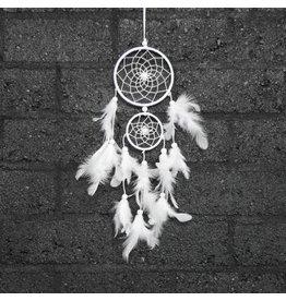 Witte dromenvanger met 2 ringen
