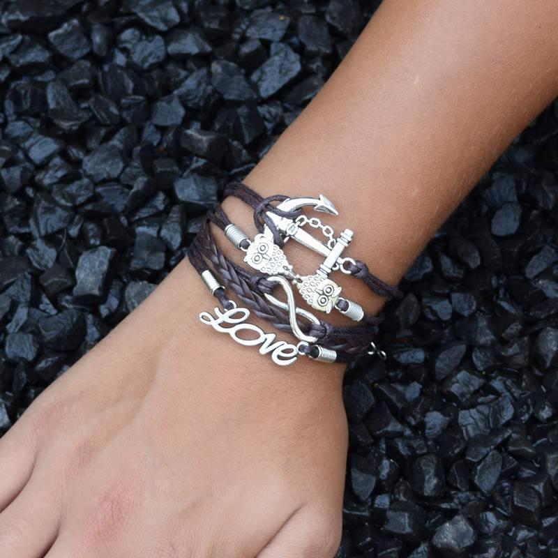 5-delige bruine armband Wijsheid