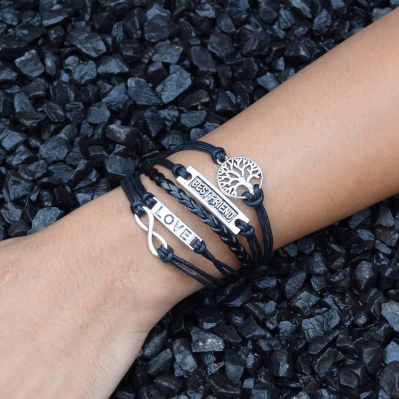 5-delige zwarte armband Beste vriend
