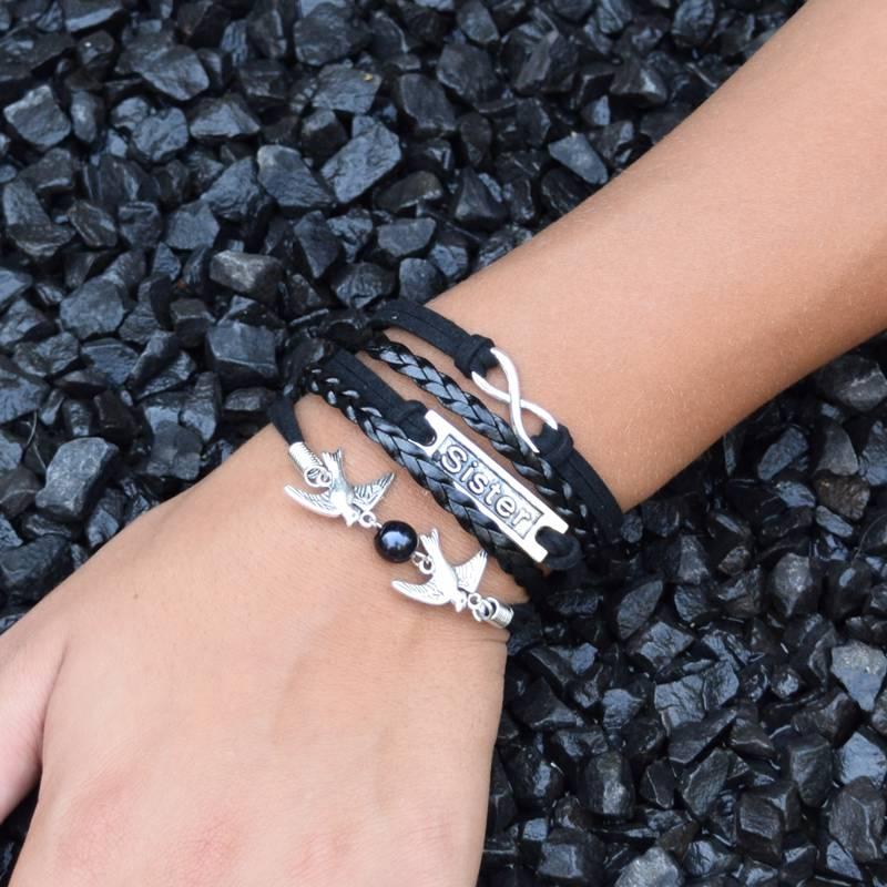 5-delige zwarte armband Zuster