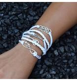 6-delige witte armband Romantiek