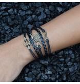 5-delige zwarte armband Draak