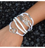 6-delige witte armband