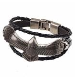 3-delige zwarte armband Adelaar