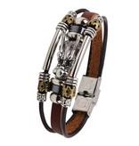 3-delige bruine armband Draak