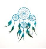Turquoise dromenvanger met 4 ringen