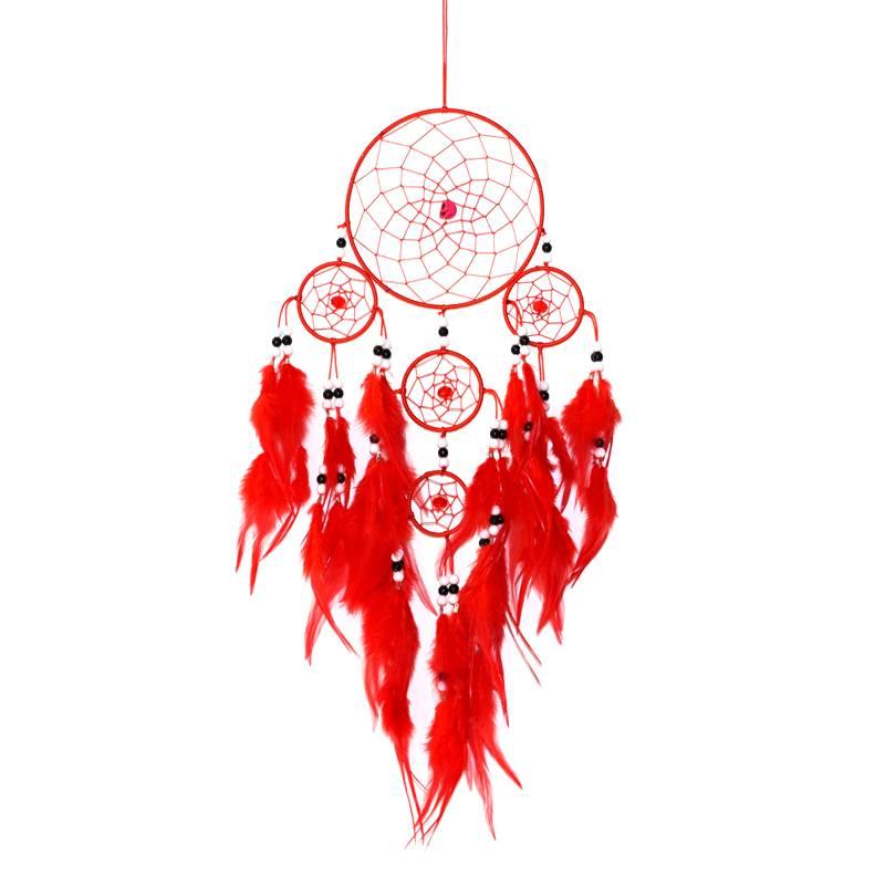 Rode dromenvanger met  5 ringen