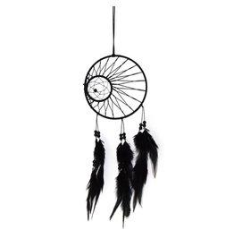 Zwarte dromenvanger met dubbele ring