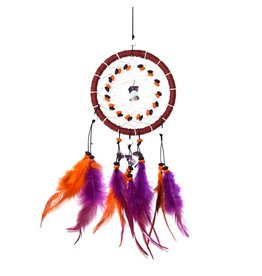 Oranje en paarse dromenvanger met 1 ring