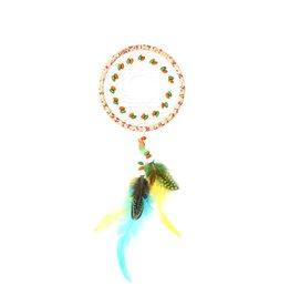 Kanarie kleuren dromenvanger met 1 ring