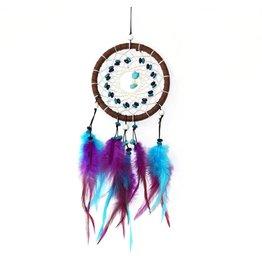 Turquoise en paarse dromenvanger met 1  ring