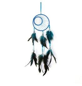 Turquoise en blauwe dromenvanger dubbele ring