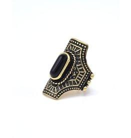 Zwarte Bohemian ring