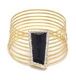 Vergulde Vintage Armband Zwart