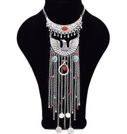 Kleurrijke Bohemian halsketting