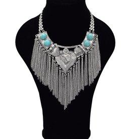 Uitbundige Bohemian halsketting