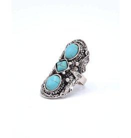 Turquoise Bohemian ring