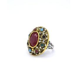 Multicolor Vintage ring