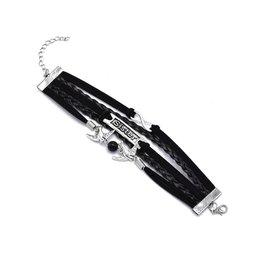 5-delige zwarte armband