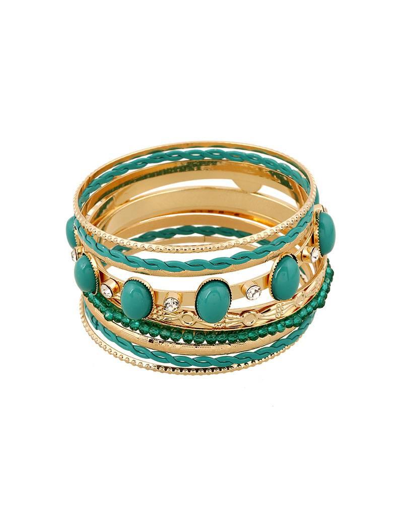 Vergulde Vintage Armband Groen
