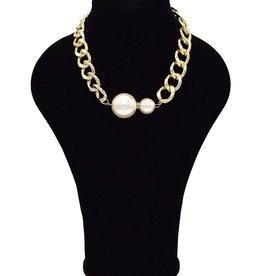 Vintage halsketting met parels
