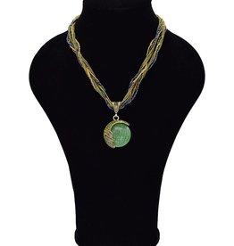 Multilayer Vintage halsketting groen