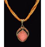 Vergulde Multilayer Vintage halsketting Oranje