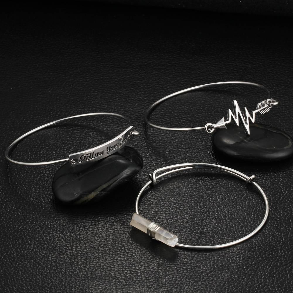 Verzilverde Vintage Armband Kristal