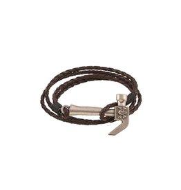 Dubbele bruine armband