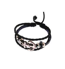3-delige zwarte armband