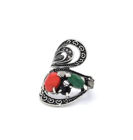 Multicolor Statement Vintage ring