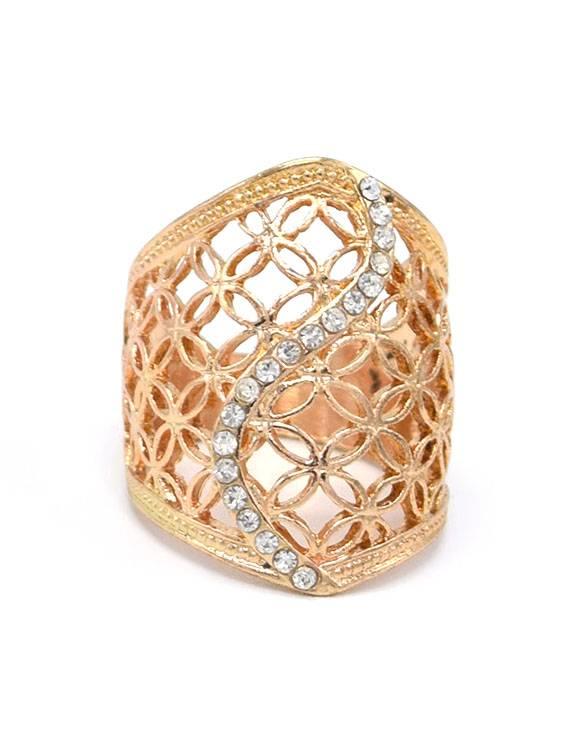 Vergulde Vintage Ring