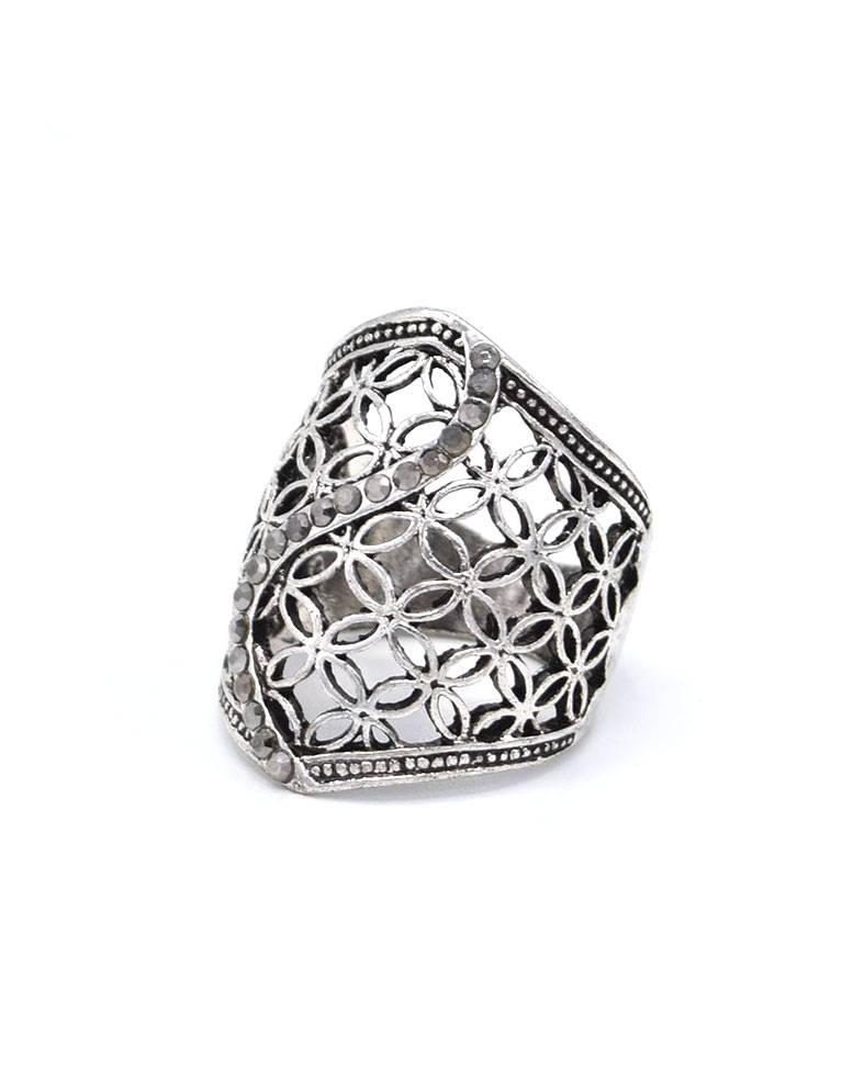 Verzilverde Vintage ring
