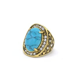 Turquoise ovale Vintage ring