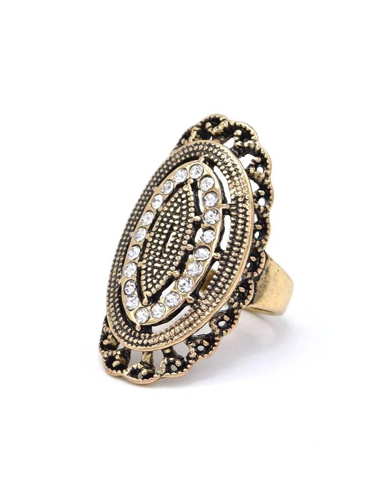 Antiek Vergulde Vintage Ring Turkey