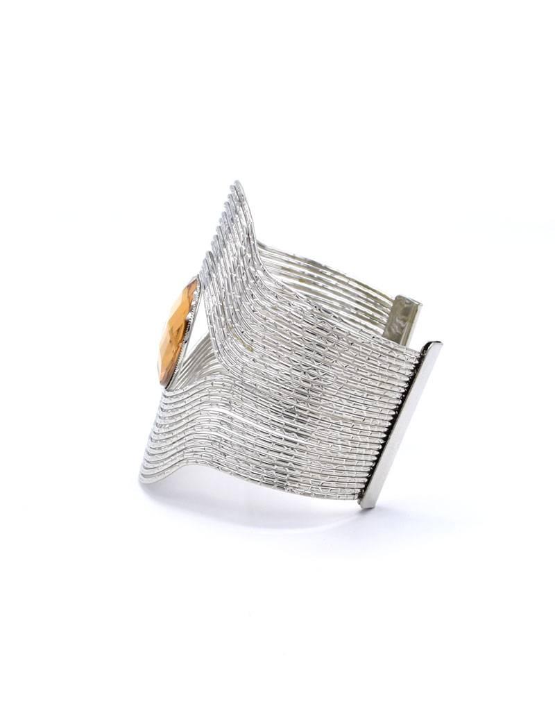 Verzilverde Vintage Cuff Armband