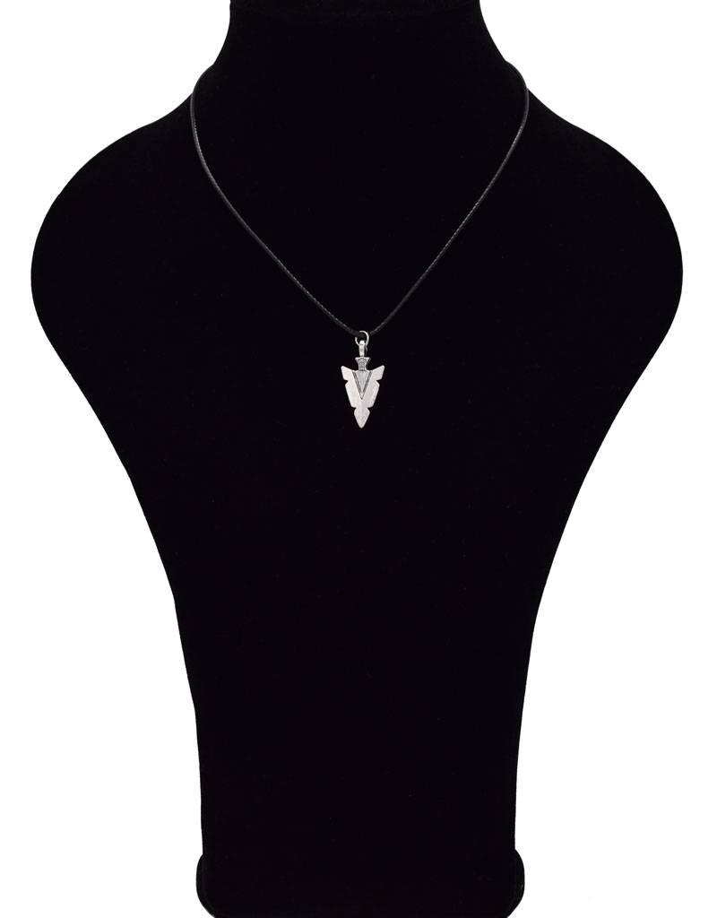 Leder halsketting met Pijlpunt