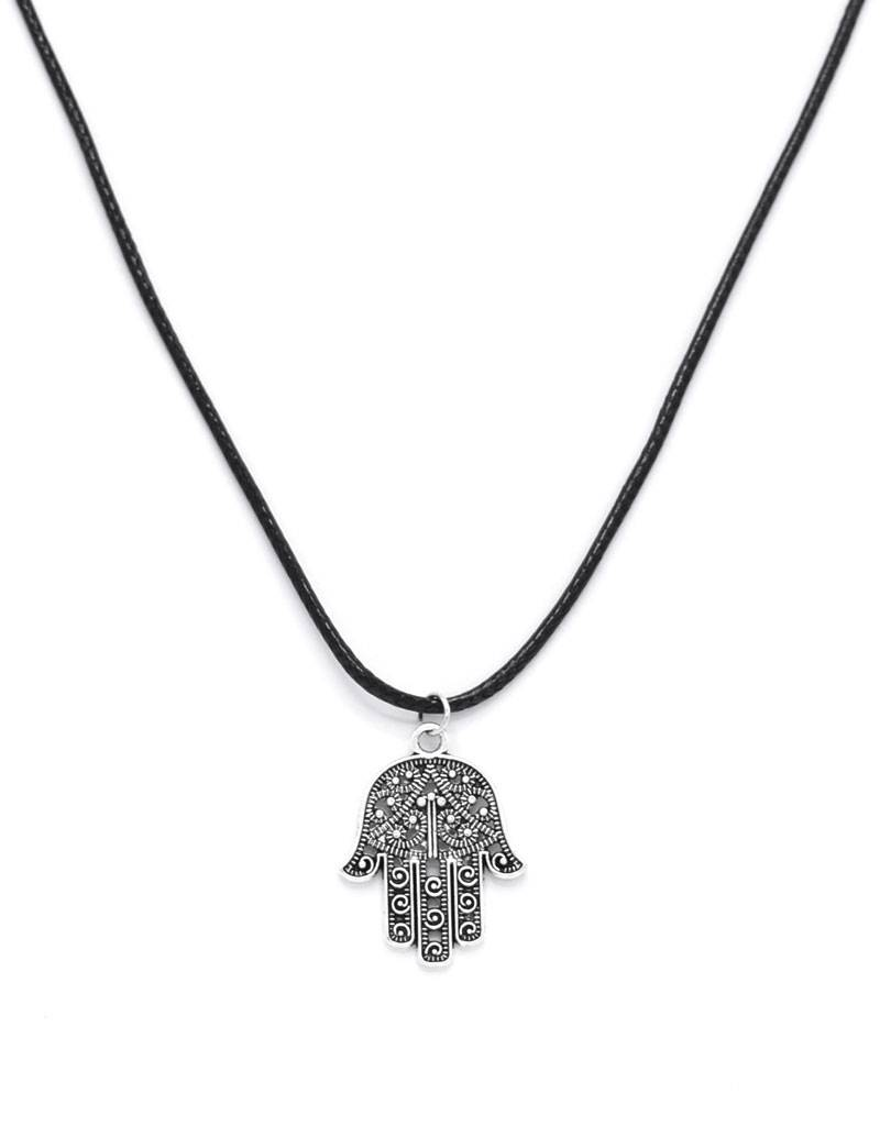 Leder halsketting Fatima