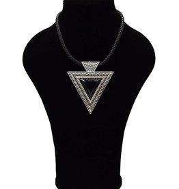 Leder Vintage halsketting