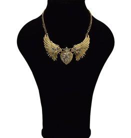 Vintage halsketting met Engelenvleugels