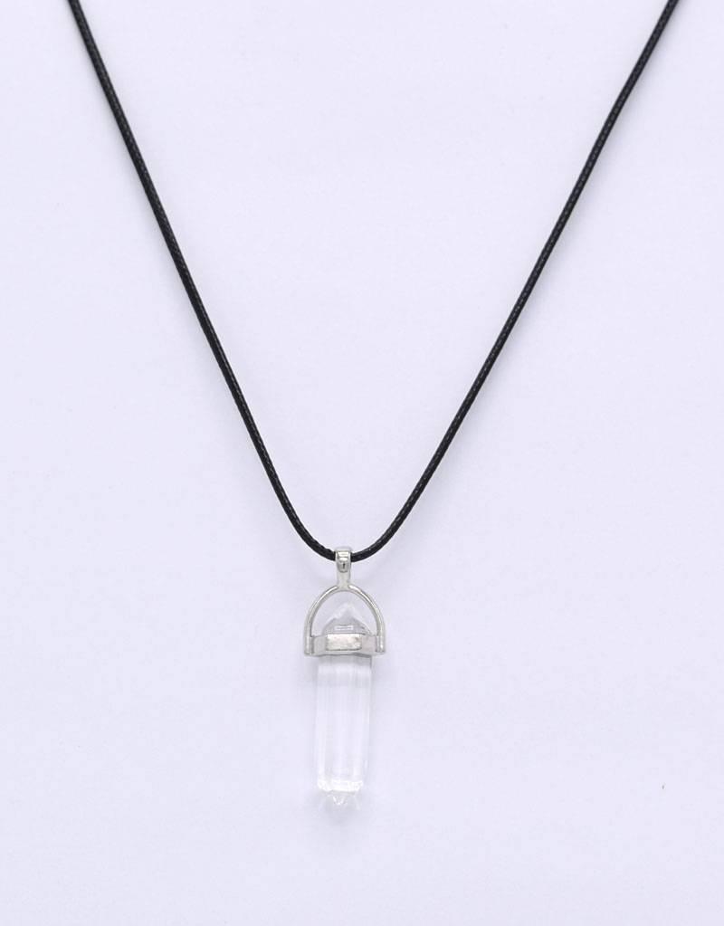 Halsketting met bergkristal pendel