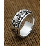 Zilveren ring met draken