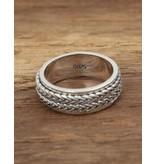 Ring met touw motief