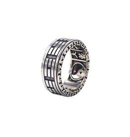 Zilveren ring yin yang